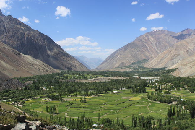 Harchin Village in Laspur Valley, at the foot of the Shandur plateau