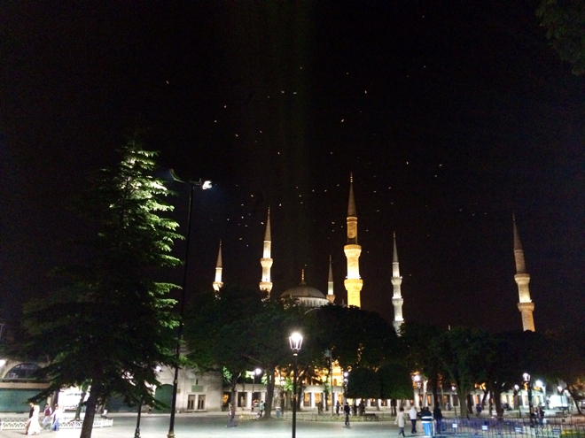 Sultanahmet Square at night