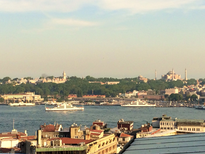 View of the old city from Beyoglu district across the Golden Horn