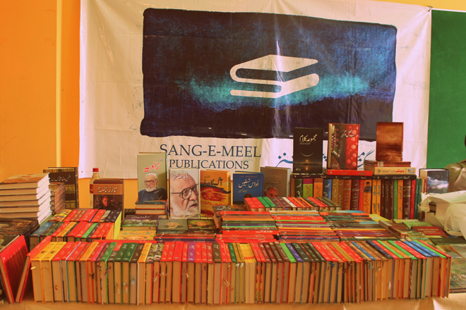Book-stalls on the festival