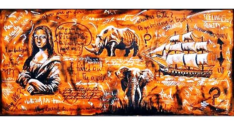 Manuscription by Mohsin Shaikh at Tanzara Art Gallery