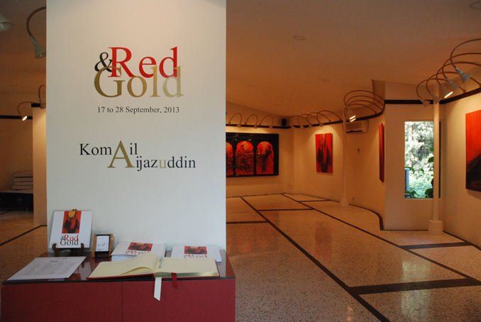 KOMAIL AIJAZUDDIN'S RED AND GOLD AT KHAAS